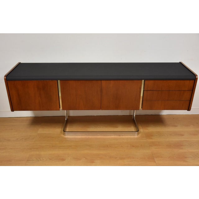 Mid-Century Modern Ste-Marie Rosewood & Chrome Credenza For Sale - Image 3 of 11