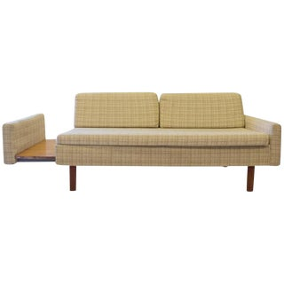 Mid-Century Pull-Out Side Table Loveseat