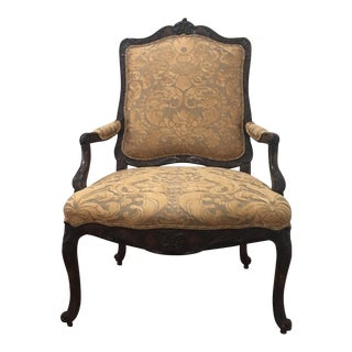 Antique Fortuny Upholstered Bergere Chair
