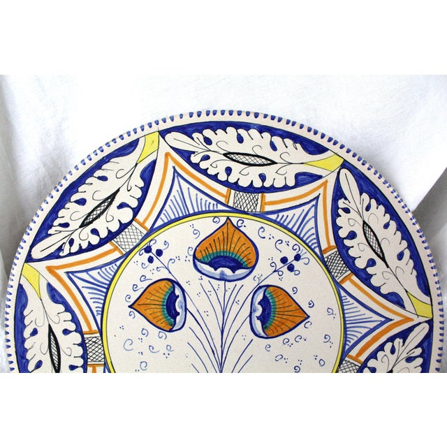 Abstract Mediterranean Pottery Charger For Sale - Image 3 of 5