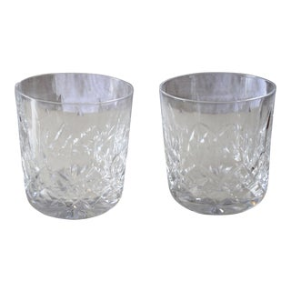 Vintage Waterford Lismore Old Fashioned Glasses - a Pair For Sale