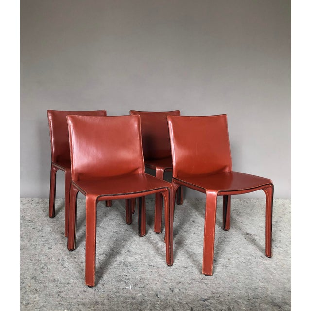 Metal Cab Dining Chairs by Mario Bellini for Cassina - Set of 4 For Sale - Image 7 of 7