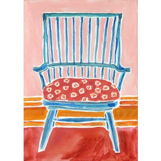 Kate Lewis Blue Chair Original Painting Preview