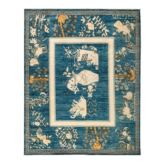 """New Hand Knotted Area Rug - 8'1"""" x 9'10"""" - Image 1 of 3"""
