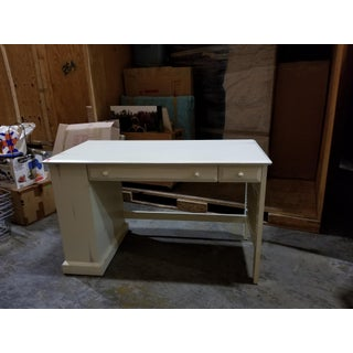 Antique Industrial White Desk Preview