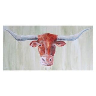Longhorn Acrylic on Canvas For Sale
