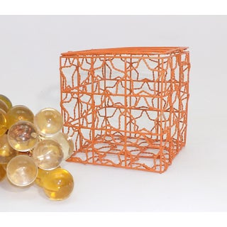 Burnt Orange Wire Cube Basket Preview