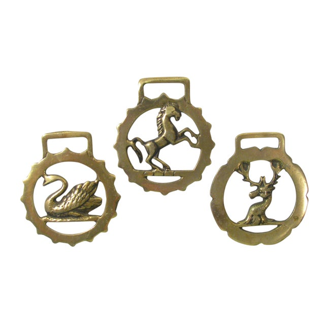 Vintage English Horse Brasses - Set of 3 - Image 1 of 4