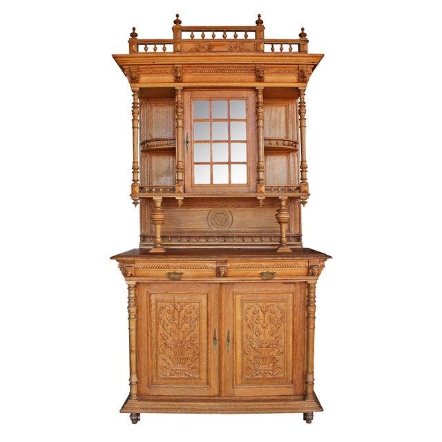 Antique Ornate Carved Oak Buffet - Image 1 of 5