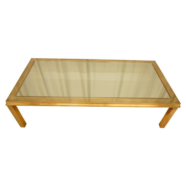 Elegantly Mirrored Mid Century Modern Coffee Table For Sale In New Orleans - Image 6 of 6