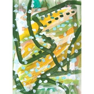 Jessalin Beutler Green Dots Painting For Sale