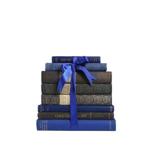 Vintage Book Gift Set: Indigo Art Selections, S/8 For Sale