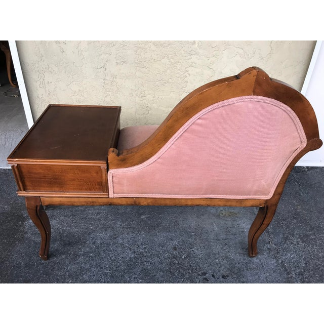 Early 21st Century Vintage Gossip /Telephone Chair ,Queen Anne ,Victorian Style For Sale - Image 5 of 10