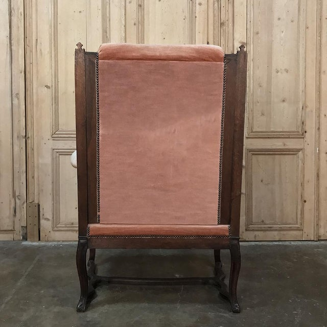 19th Century French Louis XVI Grand Armchair ~ Bergere For Sale - Image 10 of 11