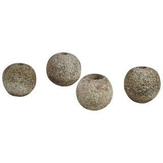 Vintage Stone Balls - Set of 4 For Sale