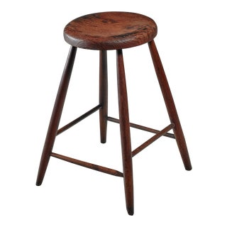 Unique Studio Crafted Bar Stool, American, turn of the century For Sale