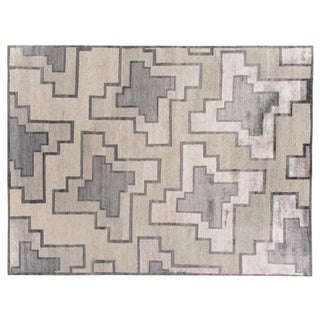 Stark Studio Rugs Contemporary Tandem Silk Rug - 9′10″ × 13′9″ For Sale