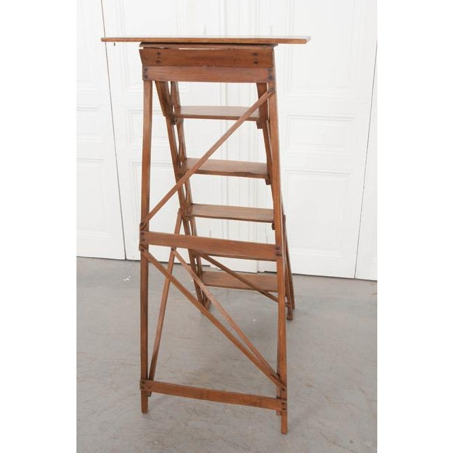French Early 20th Century Oak Folding Ladder For Sale In Baton Rouge - Image 6 of 13