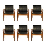 Image of Finn Juhl Model 209 Diplomat Chairs by Cado, 1960s - Set of 6 For Sale