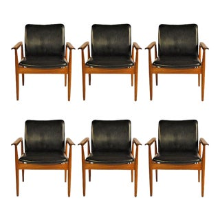 Finn Juhl Model 209 Diplomat Chairs by Cado, 1960s - Set of 6 For Sale