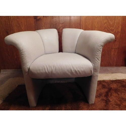 Mid-Century Thayer Coggins Split Barrel Chair - Image 3 of 9