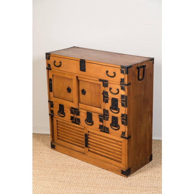 Metal Antique Japanese Merchant's Chest For Sale - Image 7 of 10