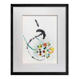 Joan Miro Lithograph Original in Color, Cat. Ref (C83) 1963 W/Custom Frame For Sale