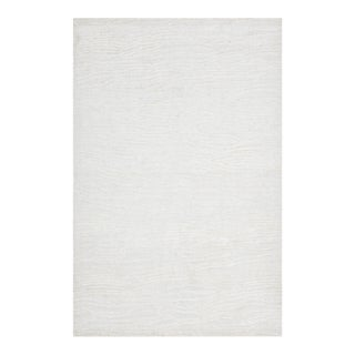 Lauren, Contemporary Modern Hand Loomed Area Rug, Ivory, 8 X 10 For Sale