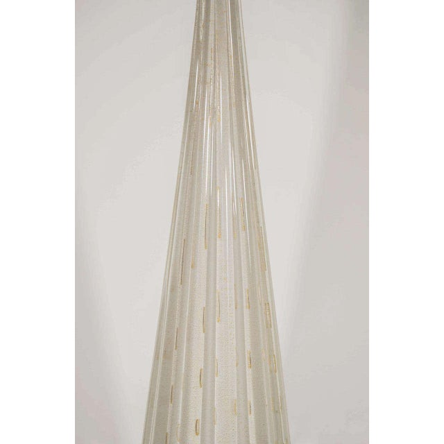 White Murano Glass Lamp For Sale - Image 4 of 7