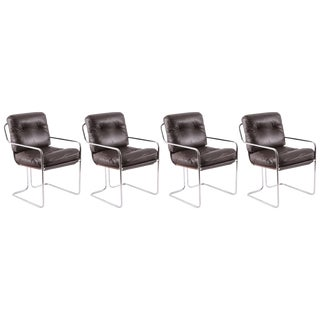 Guido Faleschini for Pace Leather 'Tucroma' Chairs - Set of 4