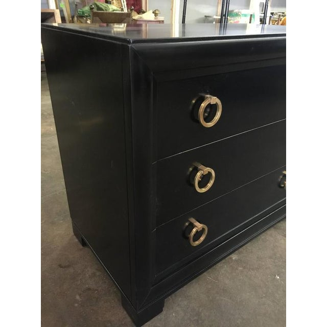 Black Lacquered Mid-Century Chests - a Pair - Image 2 of 4
