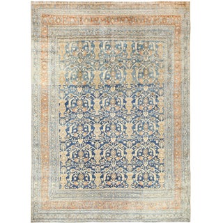 Antique Persian Khorassan Light Blue Rug - 11′9″ × 16′2″ For Sale