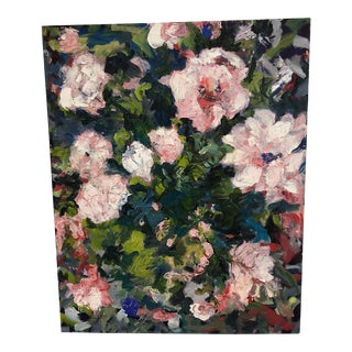 """Guilaine Hedquist """"Bed of Roses"""" Oil on Canvas Painting For Sale"""