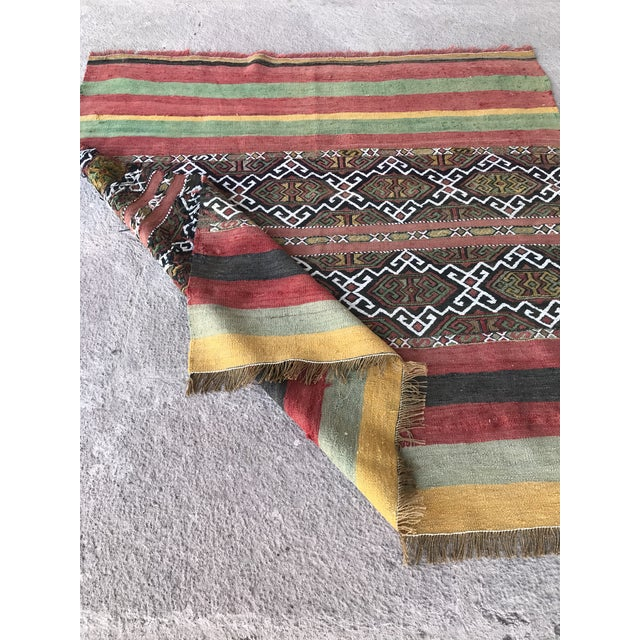 Textile 1930s Turkish Anatolian Kilim Rug For Sale - Image 7 of 9