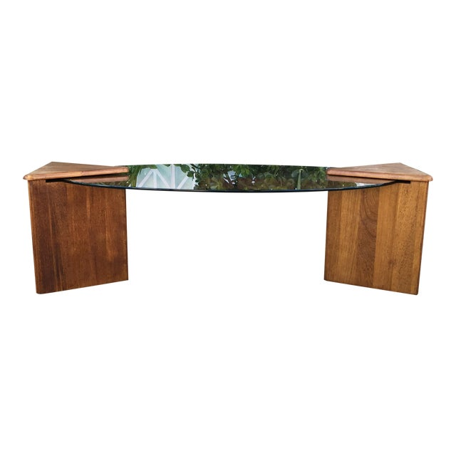 Oval Glass Top Coffee Table - Image 1 of 7