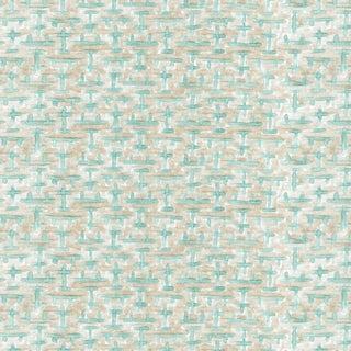 Ferran Ming Fret Fabric, 2 Yards, Ecru in Belgian Linen For Sale