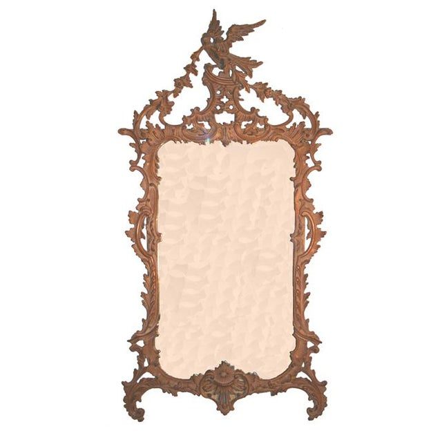 Italian Chippendale Style Carved Mirror For Sale - Image 4 of 4