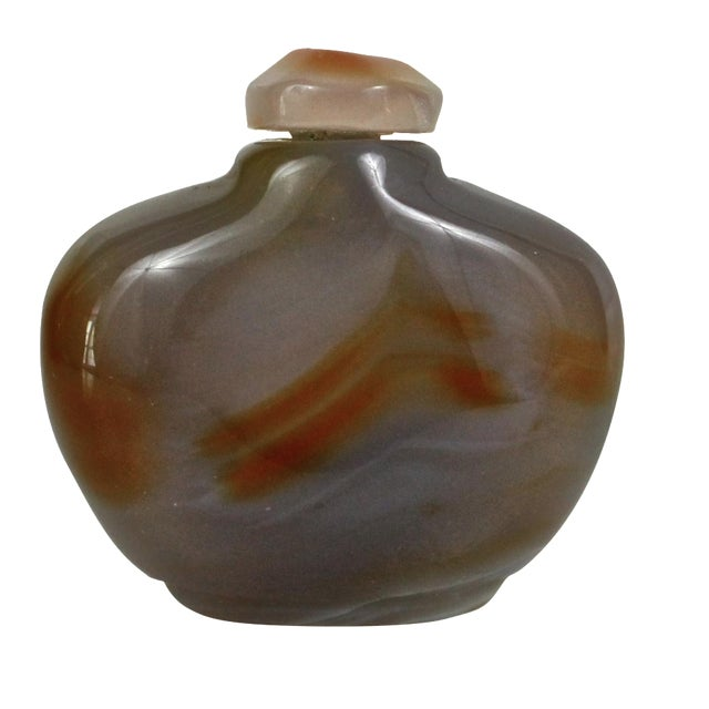 Polished Yellow Agate Snuff Bottle - Image 1 of 4