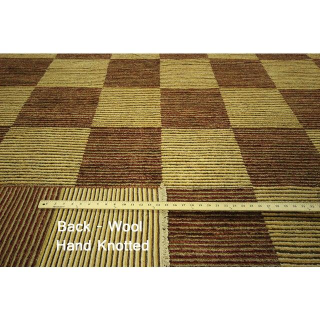 "Checkered Gabbeh Kashkuli Rug - 8'2"" x 10'6"" - Image 7 of 10"