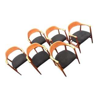 Mid Century Modern Johnson Chair Co. Chairs - Set of 6 For Sale