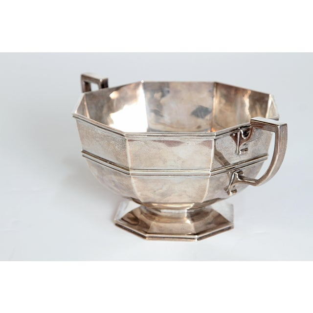 Metal Amorial Silver Pedestal Bowl / Cup by C. C. Pilling for Tiffany & Co. For Sale - Image 7 of 11