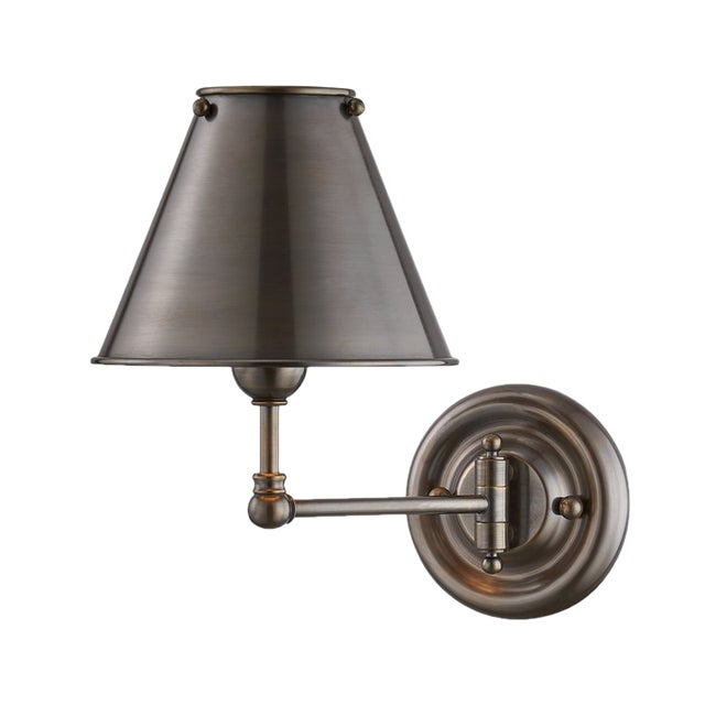 Classic No.1 1 Light Wall Sconce With Metal Shade For Sale