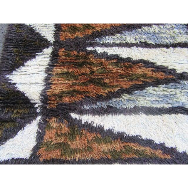 "Swedish Rya Carpet -- 3'1"" x 4'9"" - Image 10 of 10"
