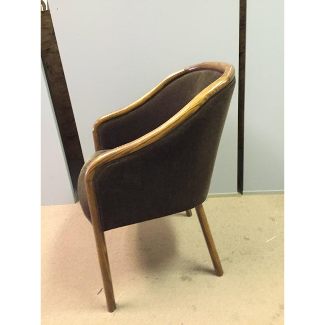 Mid-Century Modern Walnut & Mohair Dining Chairs - Set of 7 - Image 5 of 10