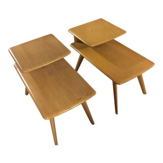 1950s Mid Century Modern 2-Tier Side Tables For Sale