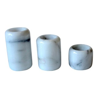 Vintage Marble Tealight Candle Holders - Set of 3 For Sale