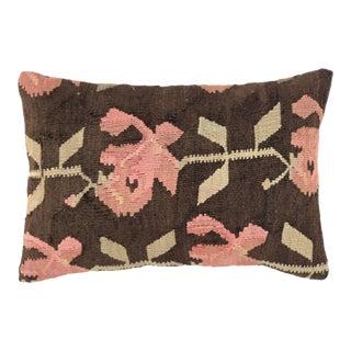 "Shabby Chic Kilim Lumbar Pillow | 16"" X 24"" For Sale"