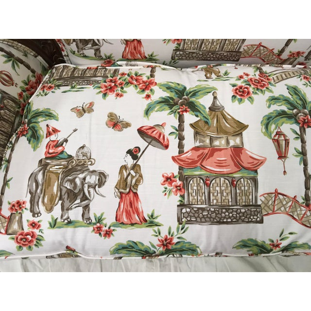 1930s Chinoiserie Carved Pagoda Settee - Image 7 of 9