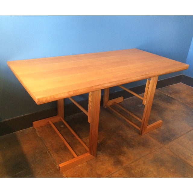 Mid-Century Camel Conversion Dining Table - Image 2 of 5