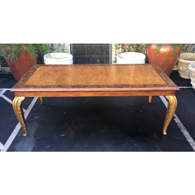 Spectacular Carved French Dining Table W Palm Leaf Leg by Randy Esada Designs For Sale In Los Angeles - Image 6 of 7
